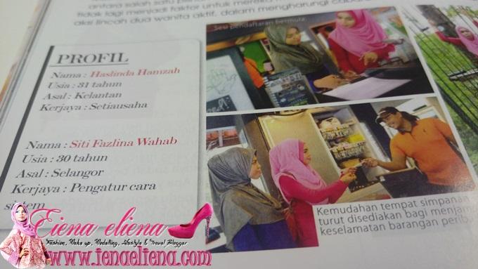 Cik iena di Majalah NUR