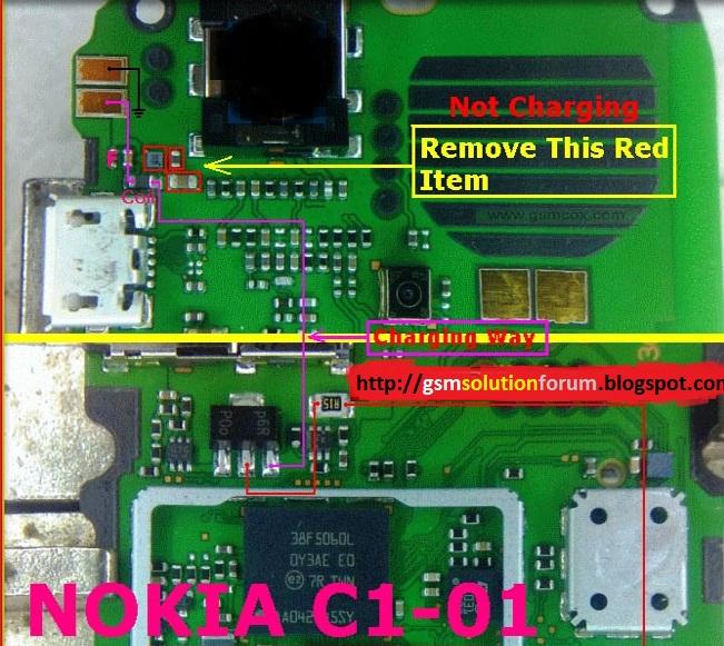 Nokia C1-01 White Display Solution