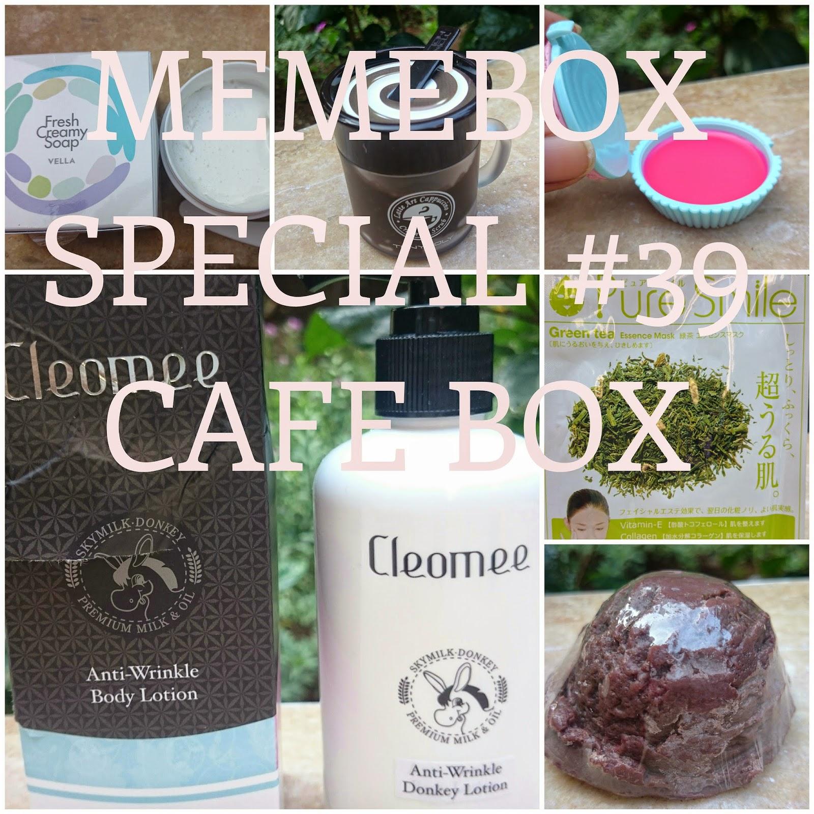 contents of Memebox Special #39 Café Box