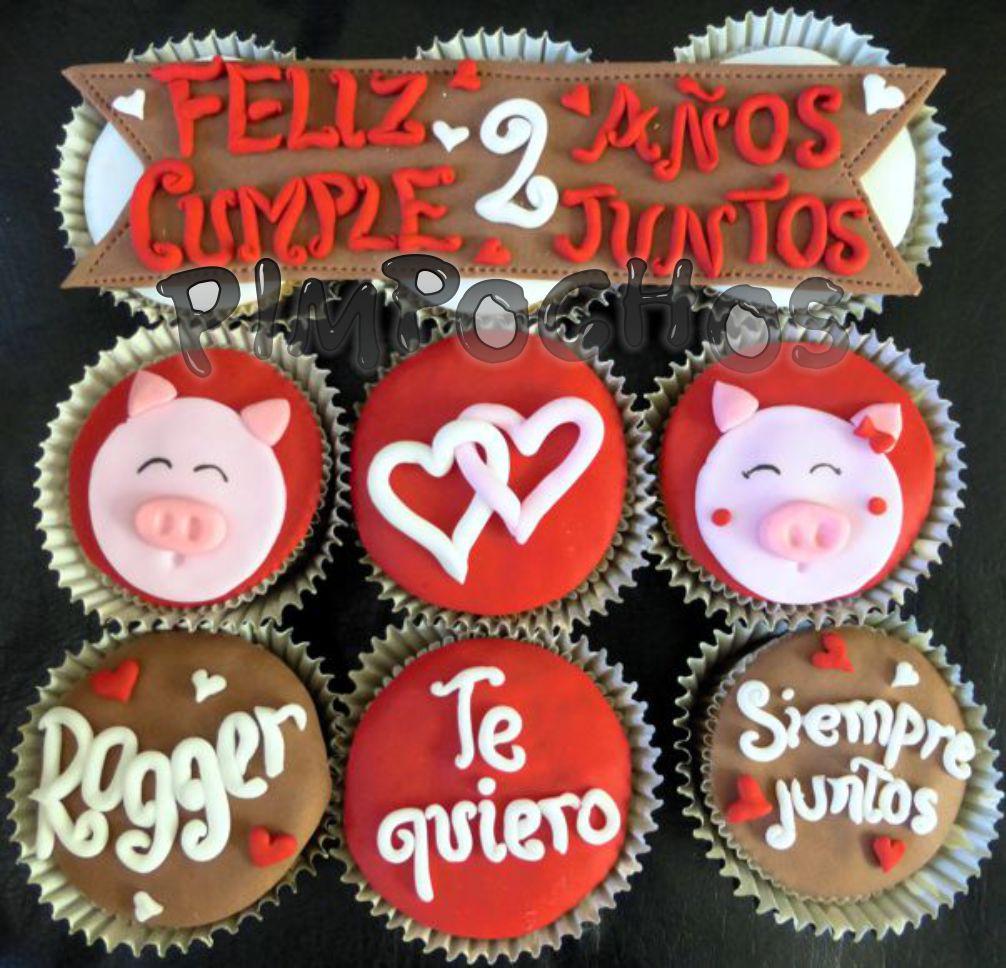 Pimpochos Arequipa Cupcakes Amor Cinta Con Mensaje Chanchos