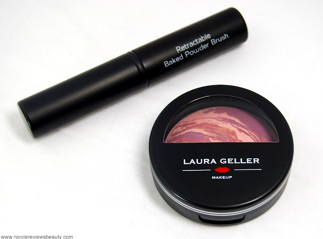 Laura Geller Sugar Free Blush-n-Brighten with Brush in Raspberry