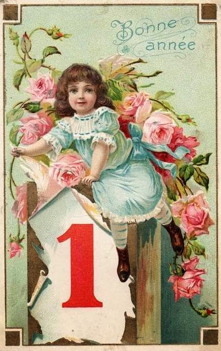 sharing a couple sweet happy new years vintage postcards