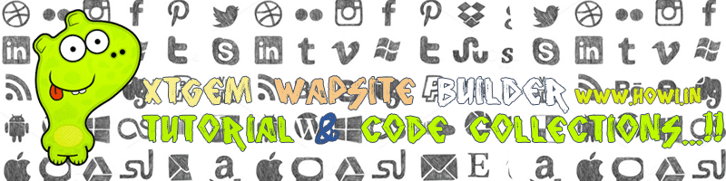 Xtgem Wapsite Builder Tutorials & Code Collection