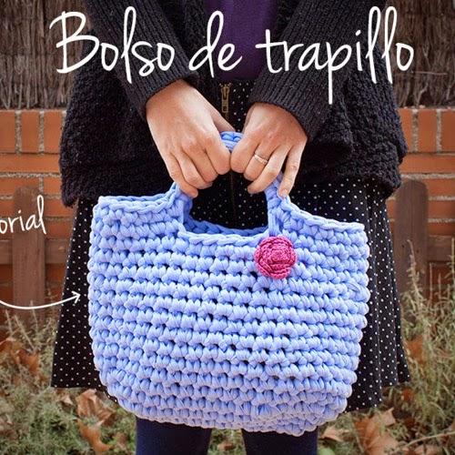 Patrones trapillo como hacer un bolso de trapillo for Bolsos de crochet de trapillo