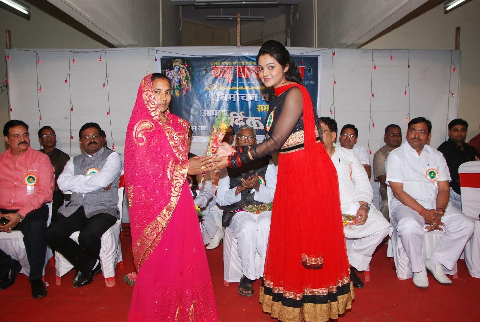 Miss Sunita with Actress Kajal Yadav