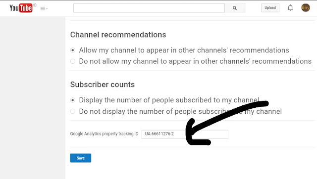 Youtube Channel setting advance
