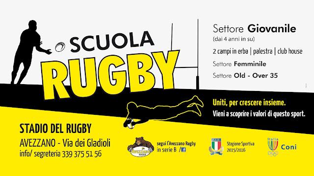 Iscrizioni Scuola Rugby - settore giovanile, femminile e old over 35