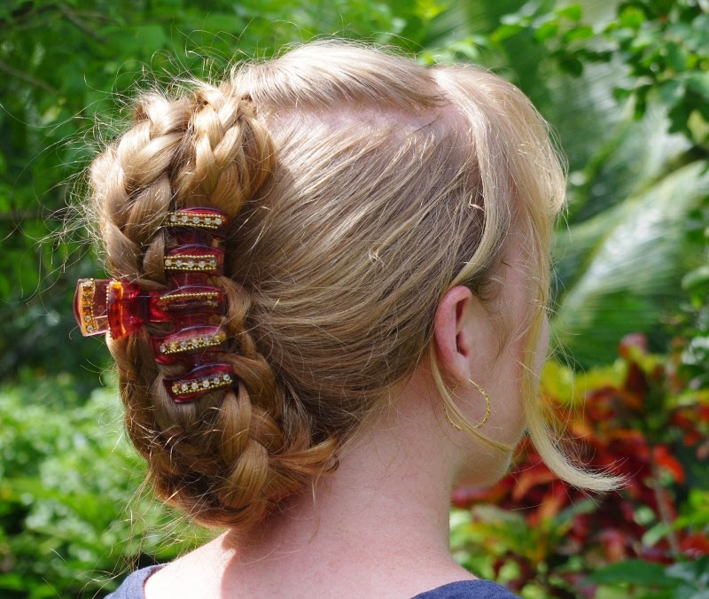 Braids & Hairstyles for Super Long Hair: Banana-clip style
