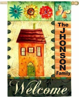 warmth of home personalized house flag