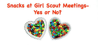 Should leaders let the girls have a snack at their Girl Scout meetings?