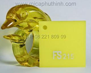 Mica màu vàng chanh FS 215