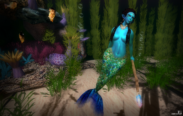 Second Life Women's Fashion Review, featuring Mermaids.