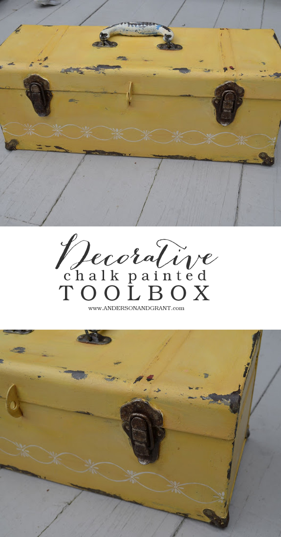 Decorating a Tool Box with Chalk Paint | www.andersonandgrant.com