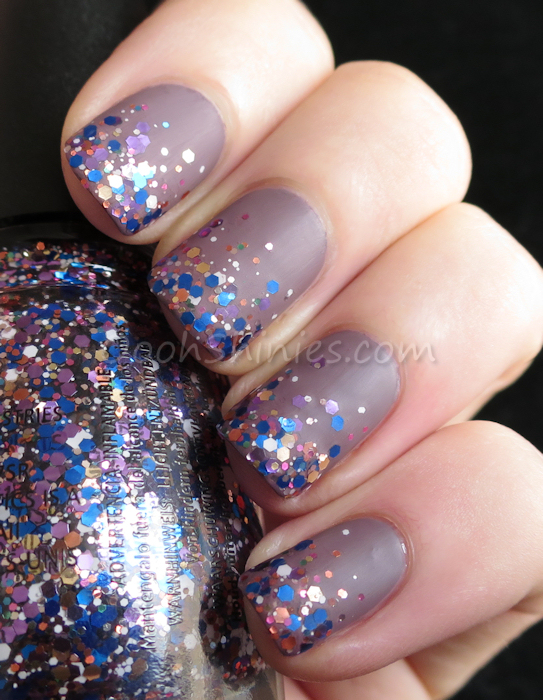 China Glaze Below Deck with China Glaze Your Present Required and BPS Super Matte