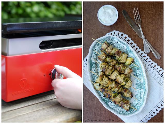 """Experimente aus meiner Küche: Hähnchen-Zucchini-Spieße """"Provence"""""""