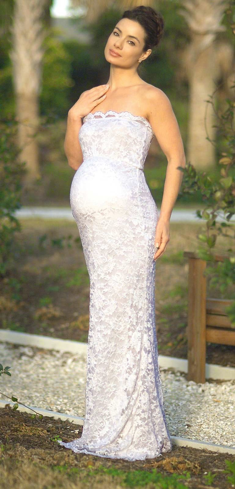 White Lace Maternity Wedding Dresses Photos HD Design Ideas