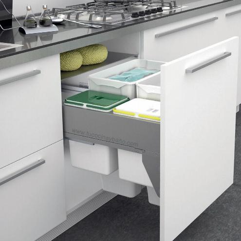 Cubo basura mueble cocina tu cocina y ba o - Cubos de basura extraibles ...