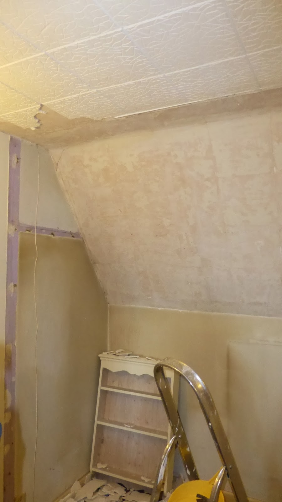 Paint and style not for those of a nervous disposition ive started removing polystyrene tiles dailygadgetfo Images