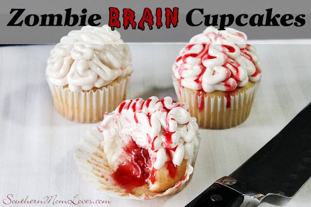 Southern Mom Loves: Zombie Brain Cupcakes {Recipe + Instructions}