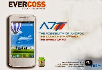 Evercoss A5T, Spesifikasi HP Android KitKat Murah Harga 500 Ribu Tahun 2015
