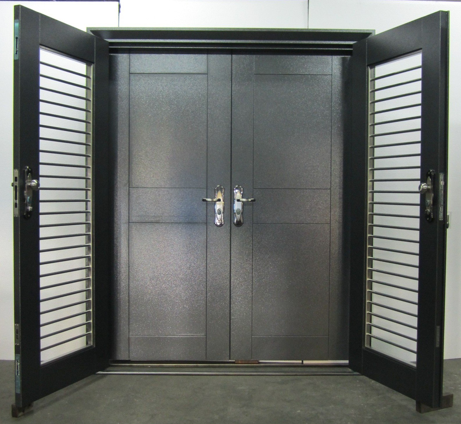 Shinjin heritage lifestyle quality steel security doors for Metal security doors
