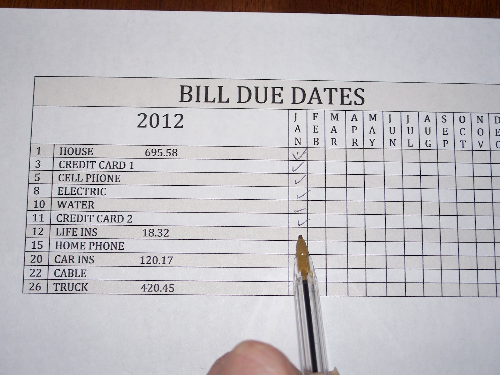 the clutter diary  organizing bills and bill payments