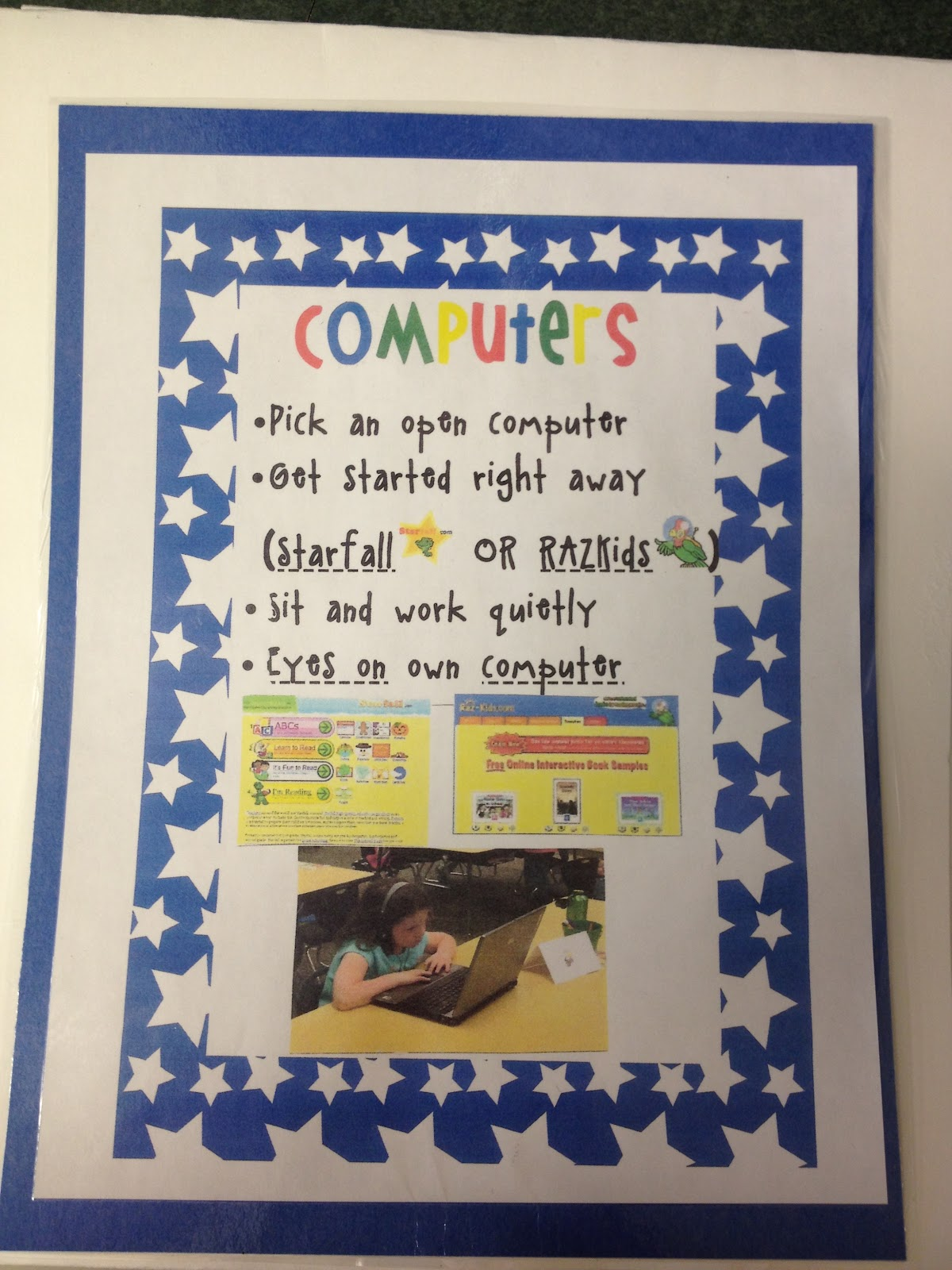 Reading Center Sign Guided reading