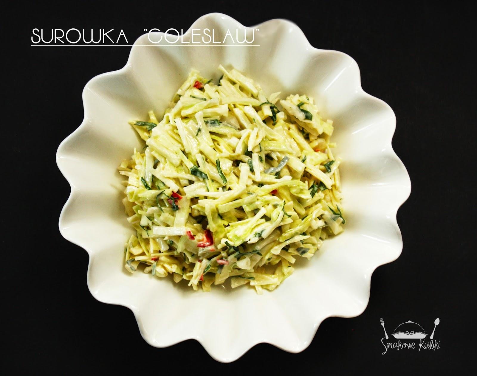 Surówka colesław z chili i ziołami  (coleslaw salad with chili and herbs)