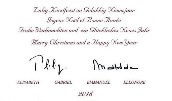 Belgian Royal Family's Christmas Card 2015