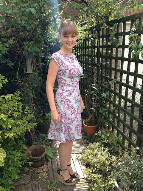 Diary of a Chainstitcher Cherry Blossom Crepe By Hand London Anna Dress Sewing Pattern