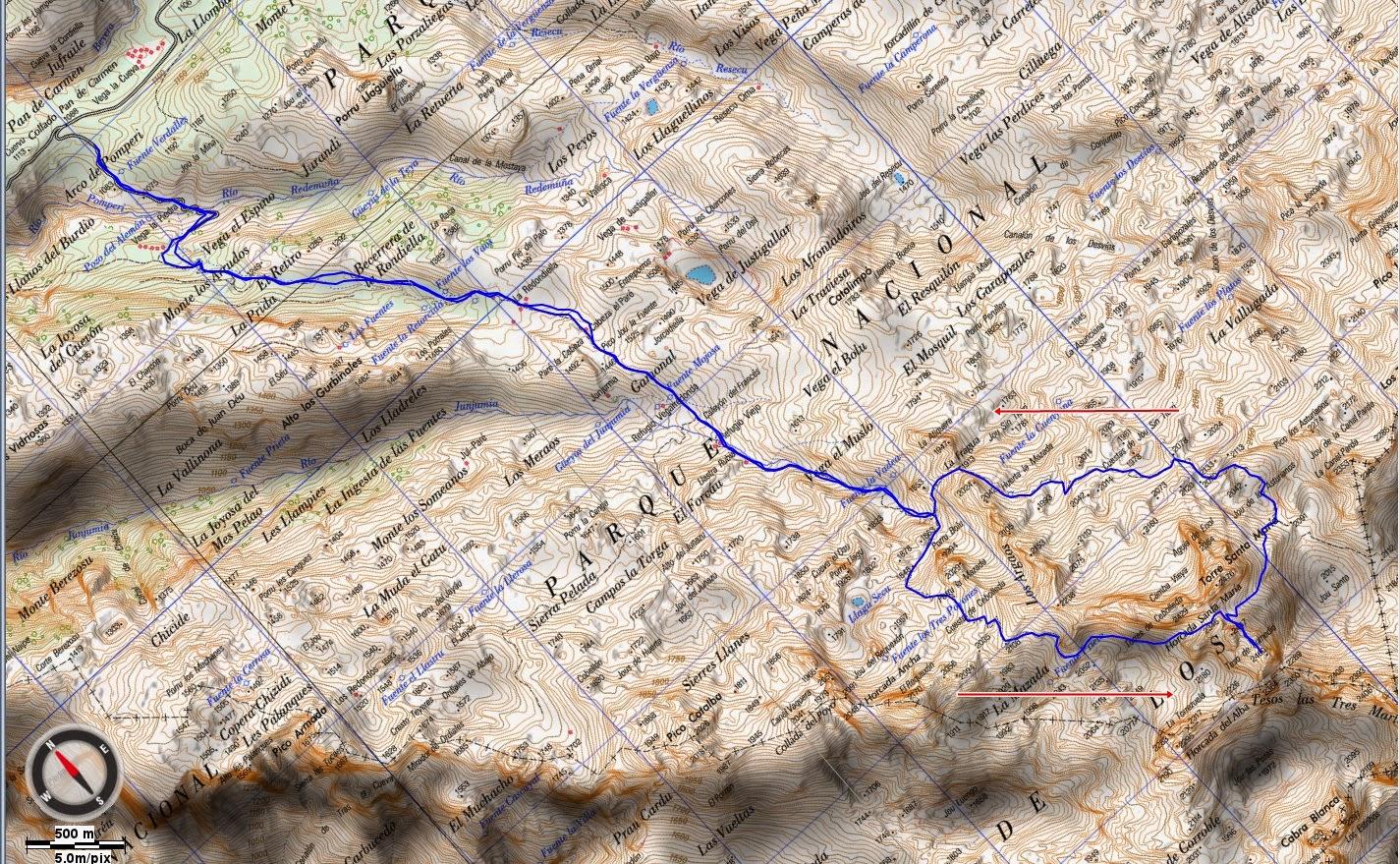 Mapa ruta Torre Enmedio