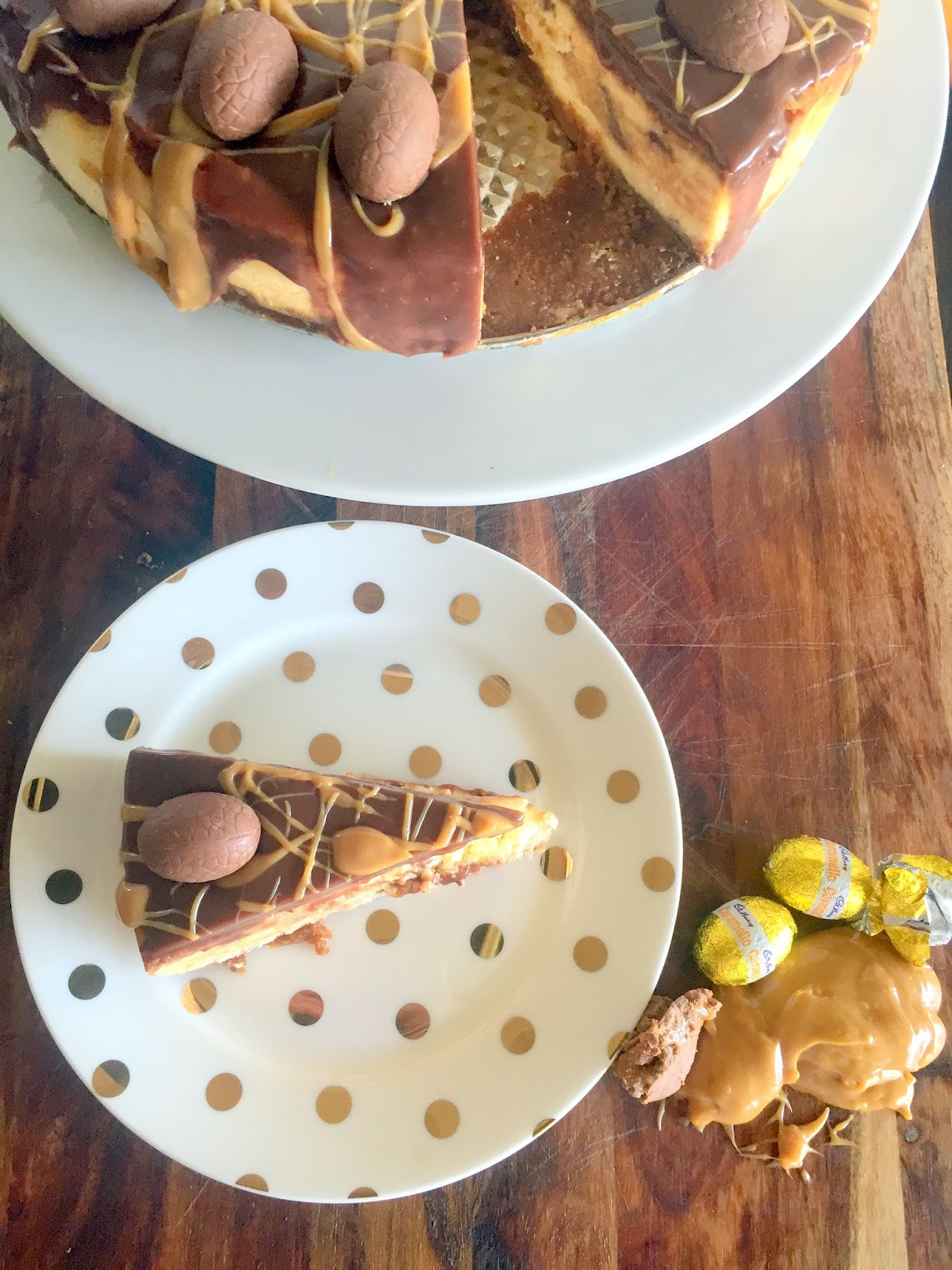 Caramel Easter Egg Cheesecake Cassie Cakes