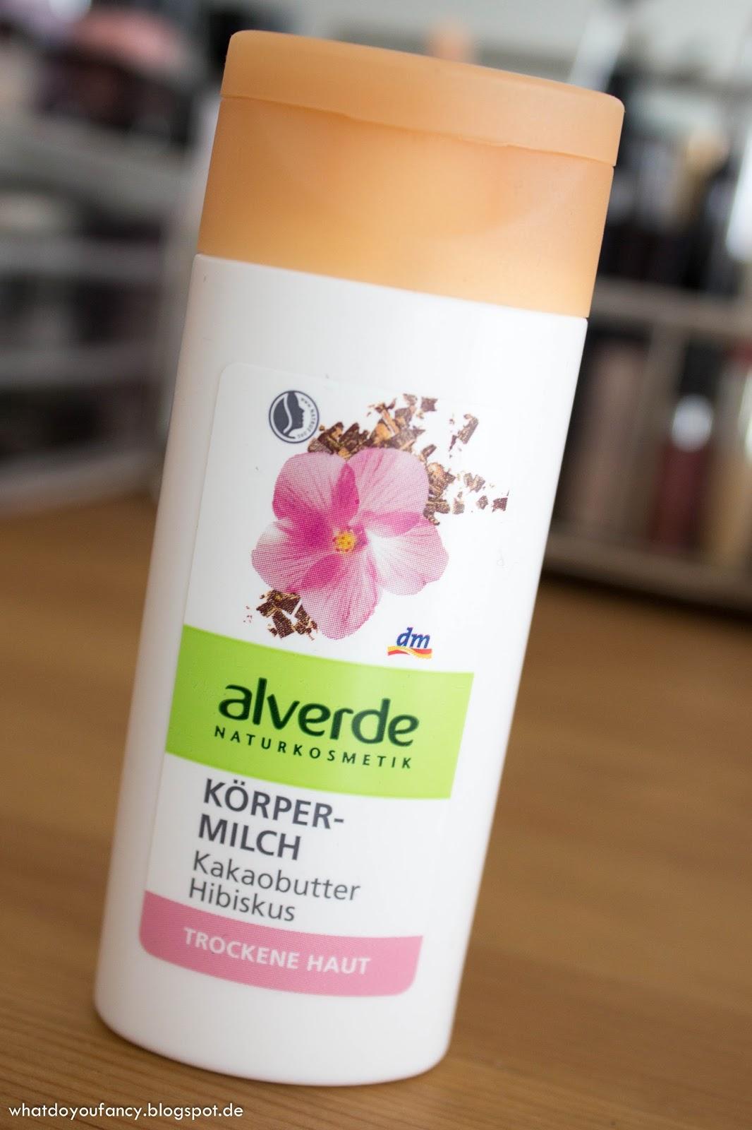 alverde Körpermilch, 50 ml, lag als Extra dabei