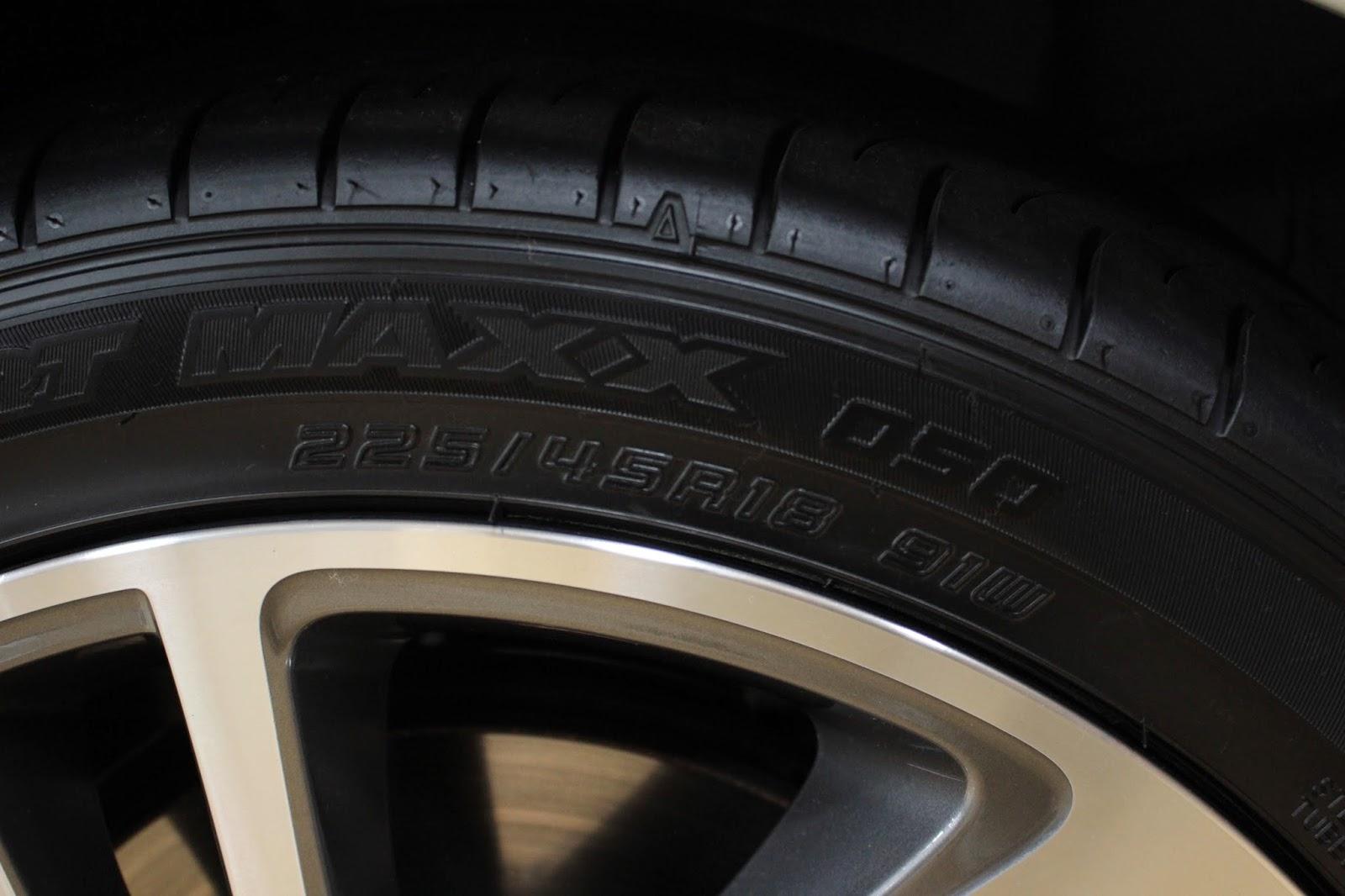 レヴォーグのタイヤ。ダンロップ SP SPORT MAXX 050 225/45R18です