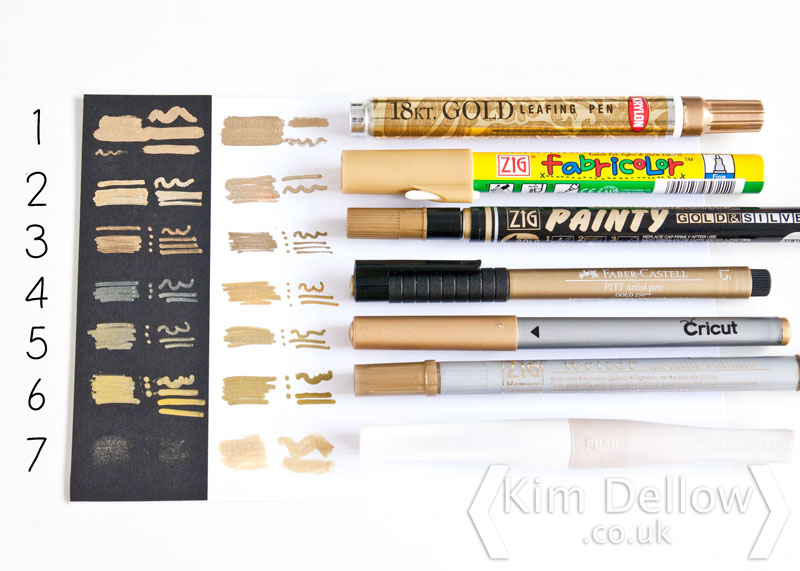 Different types of gold pens