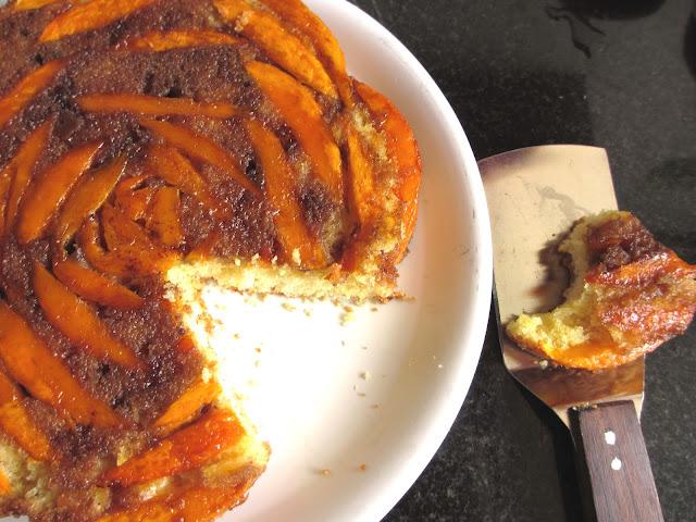Runner Girl in the Kitchen: Mango Upside-Down Cake