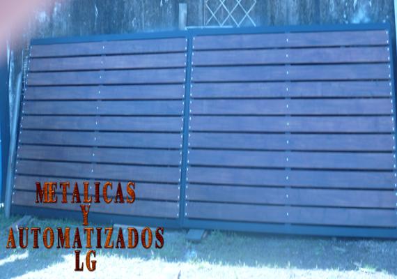 Metalicas y automatizado lg portones para puertas de for Puertas para fincas