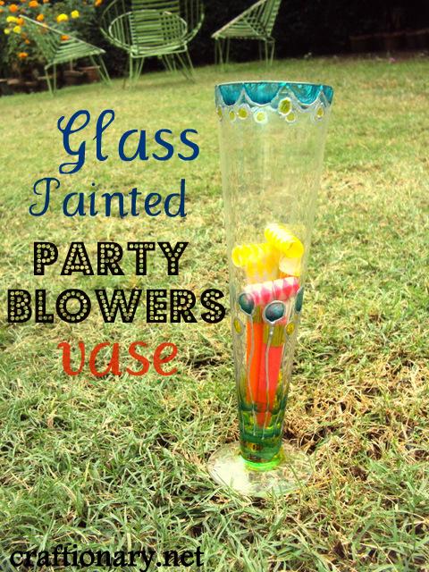 verre peint-anniversaire-party-vase