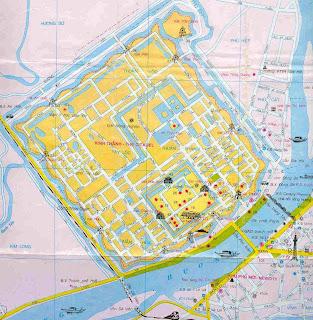 Touristische Karte von Hue (Vietnam)
