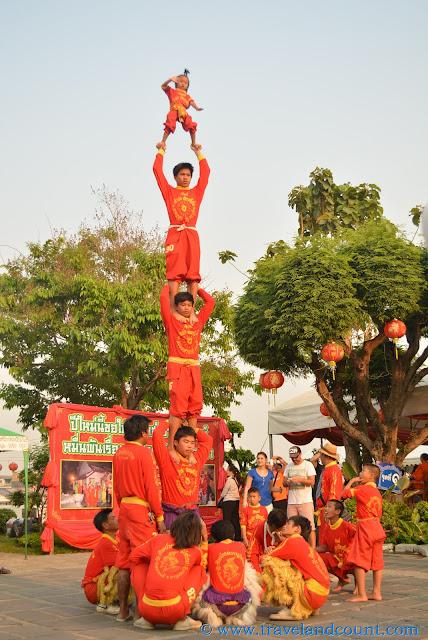 Dragon Dancers in Wat Arun