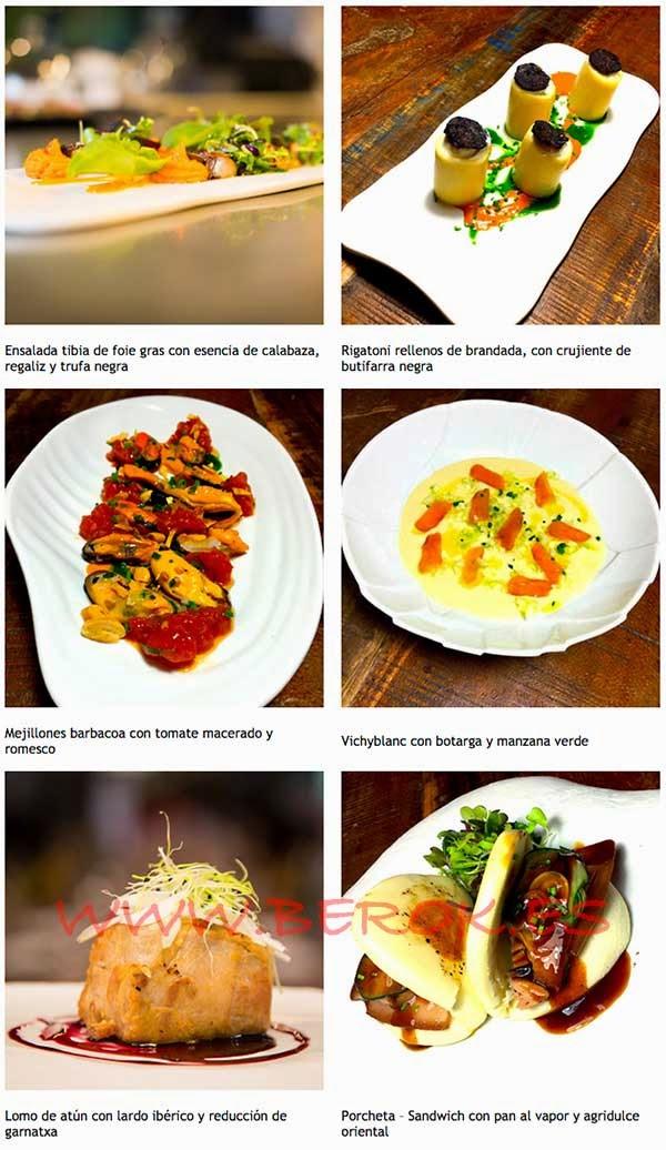 Platos que podrás encontrar en el restaurante 2254 de Barcelona