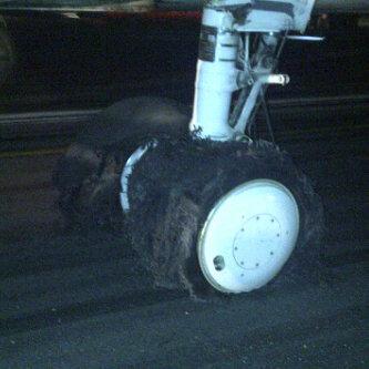 roda belakang pesawat lion air 737-400 pecah