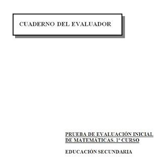 MATEMÁTICAS 1º ESO EVALUACIÓN INICIAL
