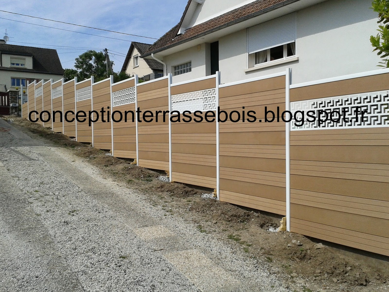 Cl ture composite conception d 39 une terrasse en bois Cloture composite