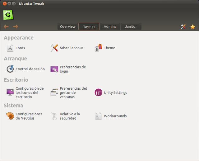 Como instalar Ubuntu Tweak 0.6 en Ubuntu 11.10 Oneiric Ocelot