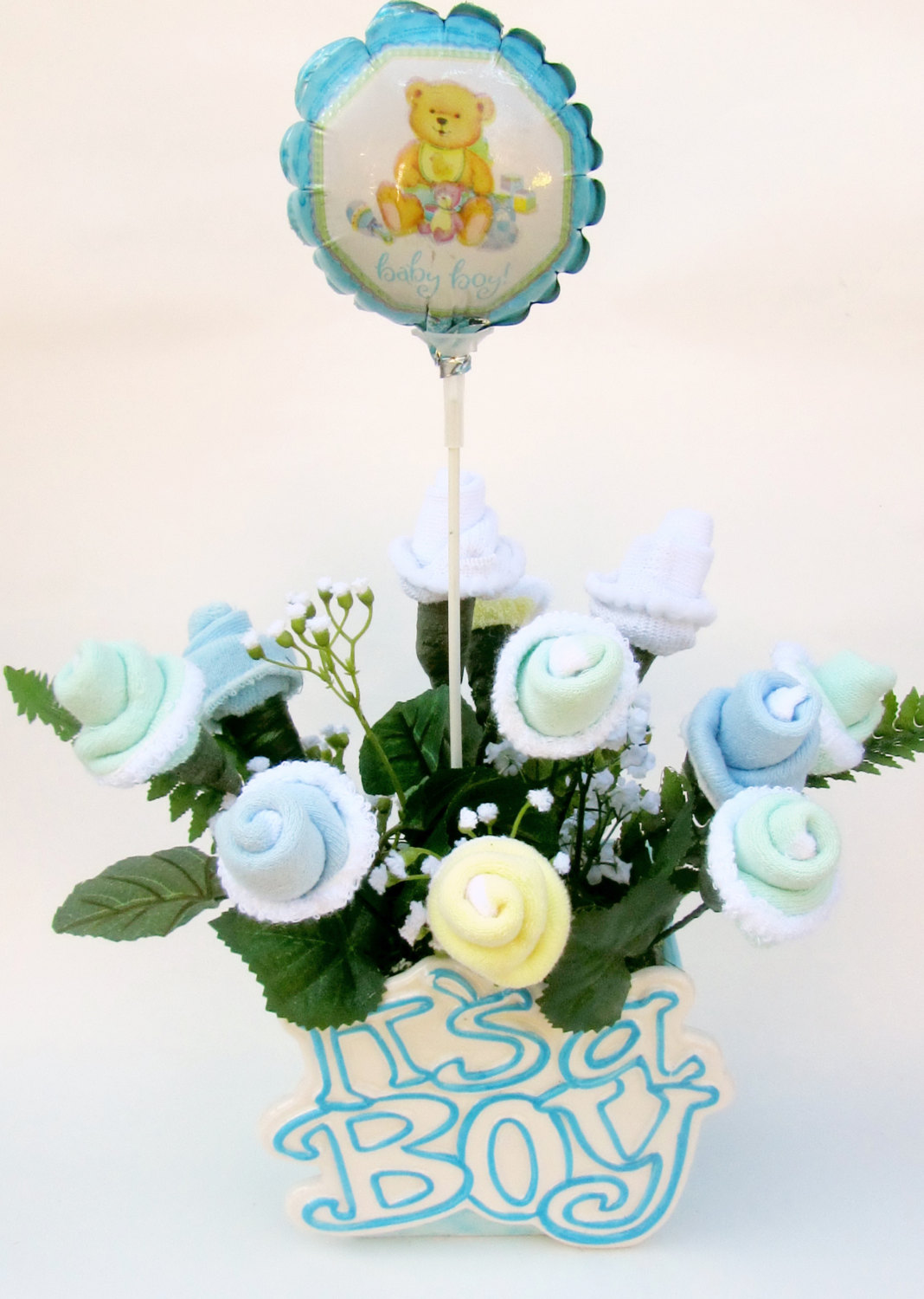 Baby Shower Flower Images ~ Baby shower sock bouquet craft art ideas