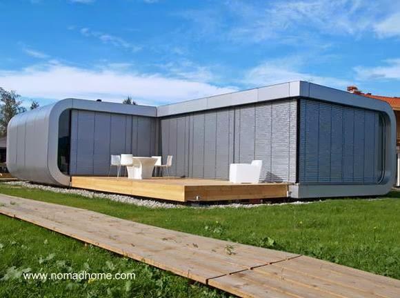 vista de la casa modular desde los fondos