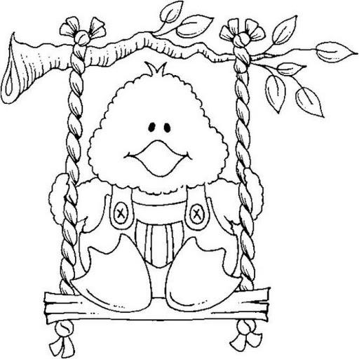 Dibujos y Plantillas para imprimir Dibujos de Gallinas y pollitos