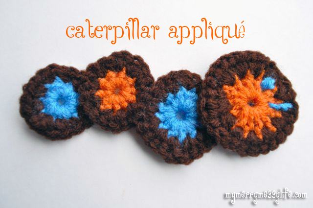 Crochet Caterpillar Hat Pattern : Crochet Caterpillar Applique {free crochet pattern}