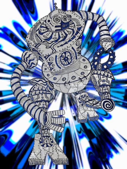 Dessins Fantastiques Robot+qui+court+final+style+10-4